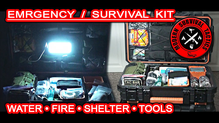 Emergency Survival Kit / WATER, FIRE, SHELTER & TOOLS